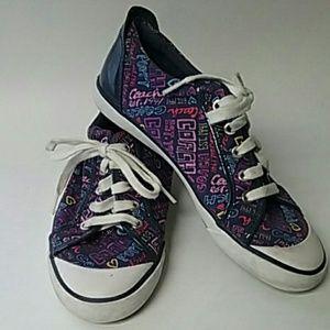 Coach poppy sneaker tennis shoes purple Barrett